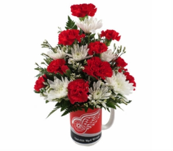 Red Wings Mug Bouqet in Southfield MI, Thrifty Florist