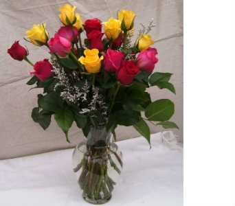 Multi Colored Roses in Evanston IL, West End Florist & Garden Center Inc.