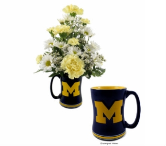 U of M Coffee Mug in Southfield MI, Thrifty Florist