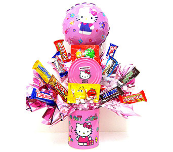 CB300 ''Hot Pink Hello Kitty Candy Bouquet in Oklahoma City OK, Array of Flowers & Gifts