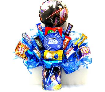 CB301 ''Star Wars Bank'' Candy Bouquet in Oklahoma City OK, Array of Flowers & Gifts
