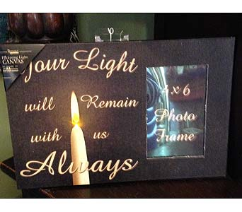 Lighted Memorial Candle in Fayetteville GA, Our Father's House Florist & Gifts