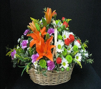 Lily Basket in Atlantic IA, Aunt B's Floral
