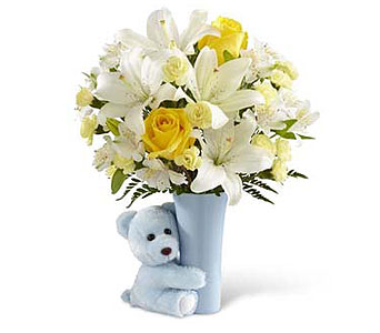 Baby Boy Big Hug Bouquet in Metairie LA, Nosegay's Bouquet Boutique