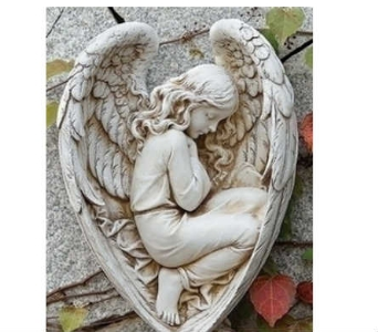 Sleeping Angel in Wings Wall Hanging in Warren MI, Downing's Flowers & Gifts Inc.