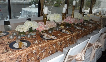 Gold, Blush and White Centerpieces in Stuart FL, Harbour Bay Florist