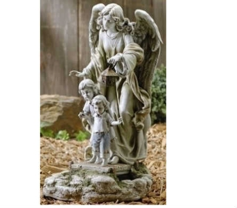 SOlar Guardian Angel Statue in Warren MI, Downing's Flowers & Gifts Inc.