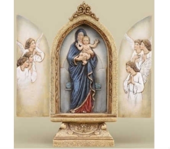 Standing Madonna and Child Triptych in Warren MI, Downing's Flowers & Gifts Inc.