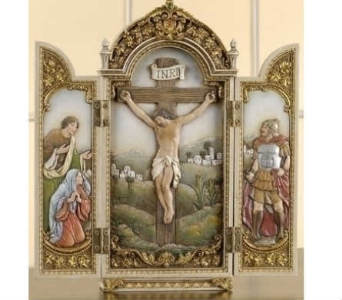 Cruciifixion Tryptych in Warren MI, Downing's Flowers & Gifts Inc.