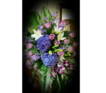 Lovely Lavender Tribute Spray in Independence OH, Independence Flowers & Gifts