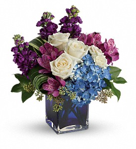 Teleflora's Portrait In Purple Bouquet in Royersford PA, Three Peas In A Pod Florist