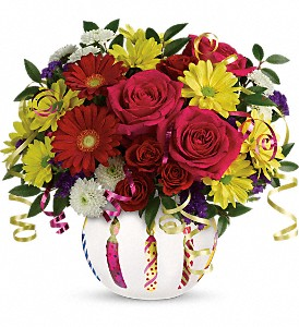 Teleflora's Special Celebration Bouquet in The Woodlands TX, Rainforest Flowers