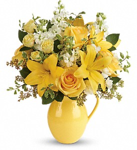 Teleflora's Sunny Outlook Bouquet in Oakland MD, Green Acres Flower Basket