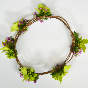 Midsummer Nights Flower Crown in Dallas TX, Dr Delphinium Designs & Events