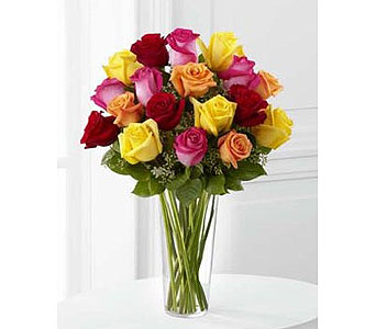 18 Assorted Long Stem Roses in Fond Du Lac WI, Haentze Floral Co