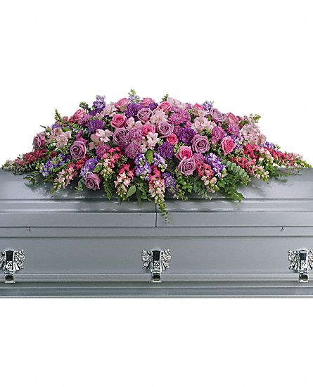 Lavender Tribute Casket Spray in Clearwater FL, Hassell Florist