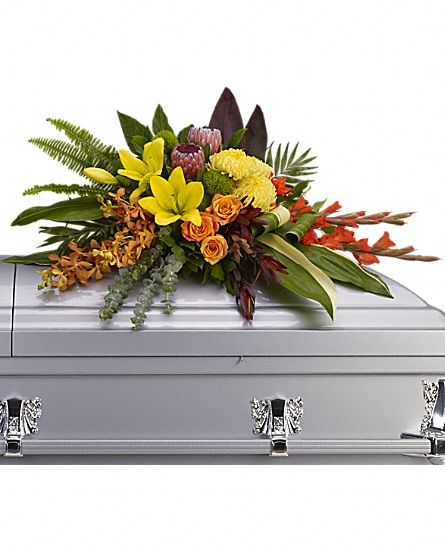 Island Memories Casket Spray in Clearwater FL, Hassell Florist