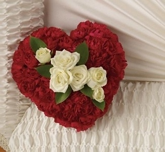 A Devoted Heart Casket Insert in Clearwater FL, Hassell Florist