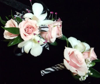 Pink and White Zebra in Farmington CT, Haworth's Flowers & Gifts, LLC.