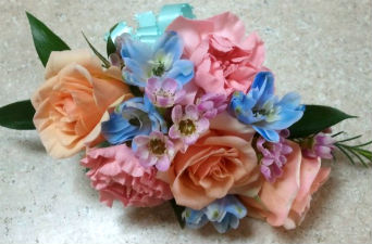 Pink, Peach and Blue in Farmington CT, Haworth's Flowers & Gifts, LLC.