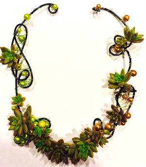 Succulent Necklace in Farmington CT, Haworth's Flowers & Gifts, LLC.