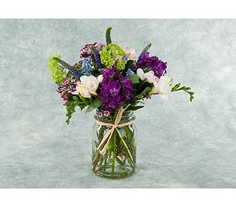 Mason Jar Arrangement in Great Neck NY, United Floral