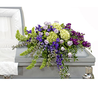 Bold Mix Casket Spray in Dallas TX, In Bloom Flowers, Gifts and More