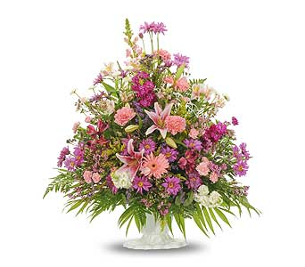 Traditional Mix Fan Arrangement in Dallas TX, In Bloom Flowers, Gifts and More