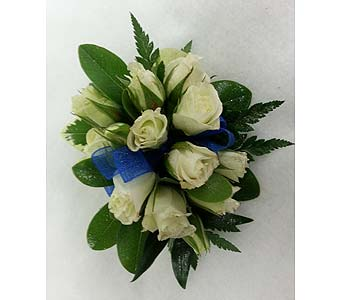 White Rose Corsage in Branford CT, Myers Flower Shop