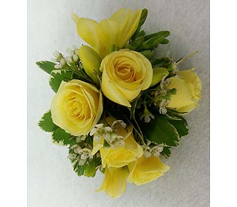 Yellow Rose Corsage in Branford CT, Myers Flower Shop