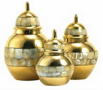 Brass and Mother of Pearl Pet Urns in Warren MI, Downing's Flowers & Gifts Inc.
