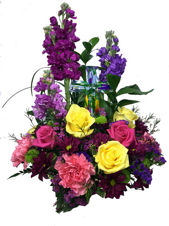 The Crystal Cross Bouquet in Raleigh NC, Fallon's Flowers