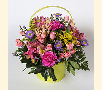 Spring Basket Bouquet in Southampton PA, Domenic Graziano Flowers
