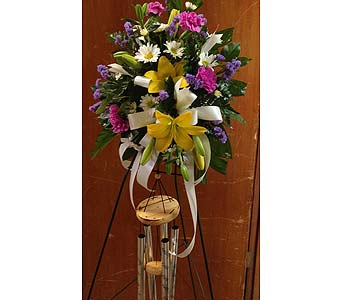 Wind Chimes with Flowers in Chattanooga TN, Chattanooga Florist 877-698-3303