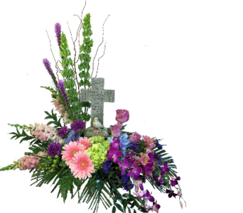 Treasured Memories Cross Bouquet in Dayton OH, Furst The Florist & Greenhouses