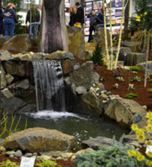 Home Show Waterfall in Kennewick WA, Heritage Home Accents & Floral
