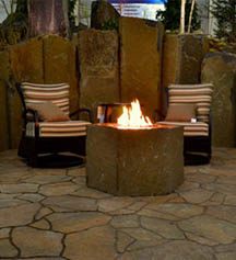 Home Show Fire Pit Area in Kennewick WA, Heritage Home Accents & Floral