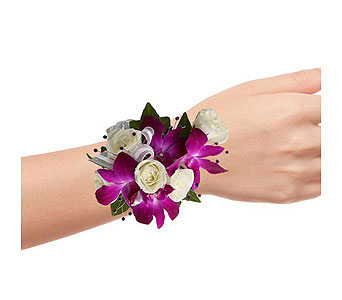 Orchid & Rose Wristlet in Dallas TX, In Bloom Flowers, Gifts and More