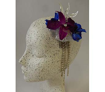 Orchid Hairpiece in Bloomington IL, Forget Me Not Flowers