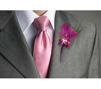 Perfect Purple Orchid Boutonniere in Dallas TX, In Bloom Flowers, Gifts and More