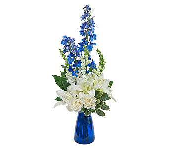 Blue Vibrations in Lockport NY, Gould's Flowers, Inc.