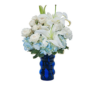 Groovy in Blue in Escondido CA, Rosemary-Duff Florist