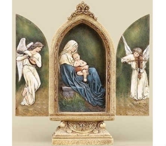 Sitting Madonna and Child Triptych in Warren MI, Downing's Flowers & Gifts Inc.
