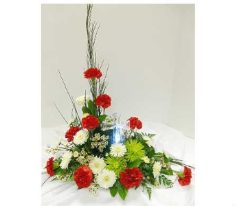 Glass Cross Arrangement in Warren MI, Downing's Flowers & Gifts Inc.