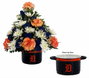 Detroit Tiger's Soup Bowl Bouquet in Southfield MI, Thrifty Florist