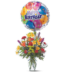 Mixed Bouquet with Balloon in McLean VA, MyFlorist