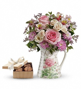 Teleflora's Fill My Heart with chocolates in Bridgewater MA, Bridgewater Florist