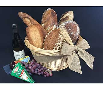 Wine and Bread Basket in Portland OR, Portland Florist Shop
