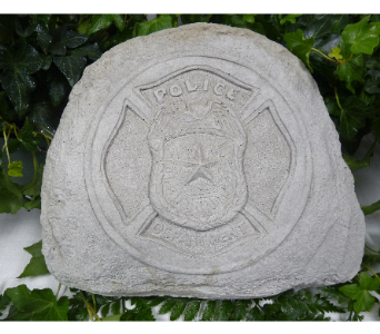 POLICE MEMORIAL STONE in Pittsburgh PA, Harolds Flower Shop