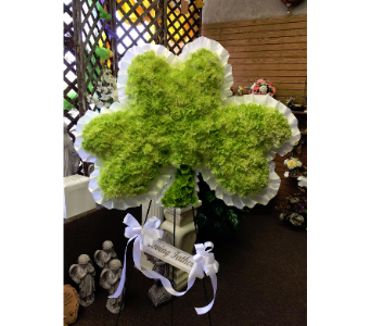 Solid shamrock in Frankfort IL, The Flower Cottage